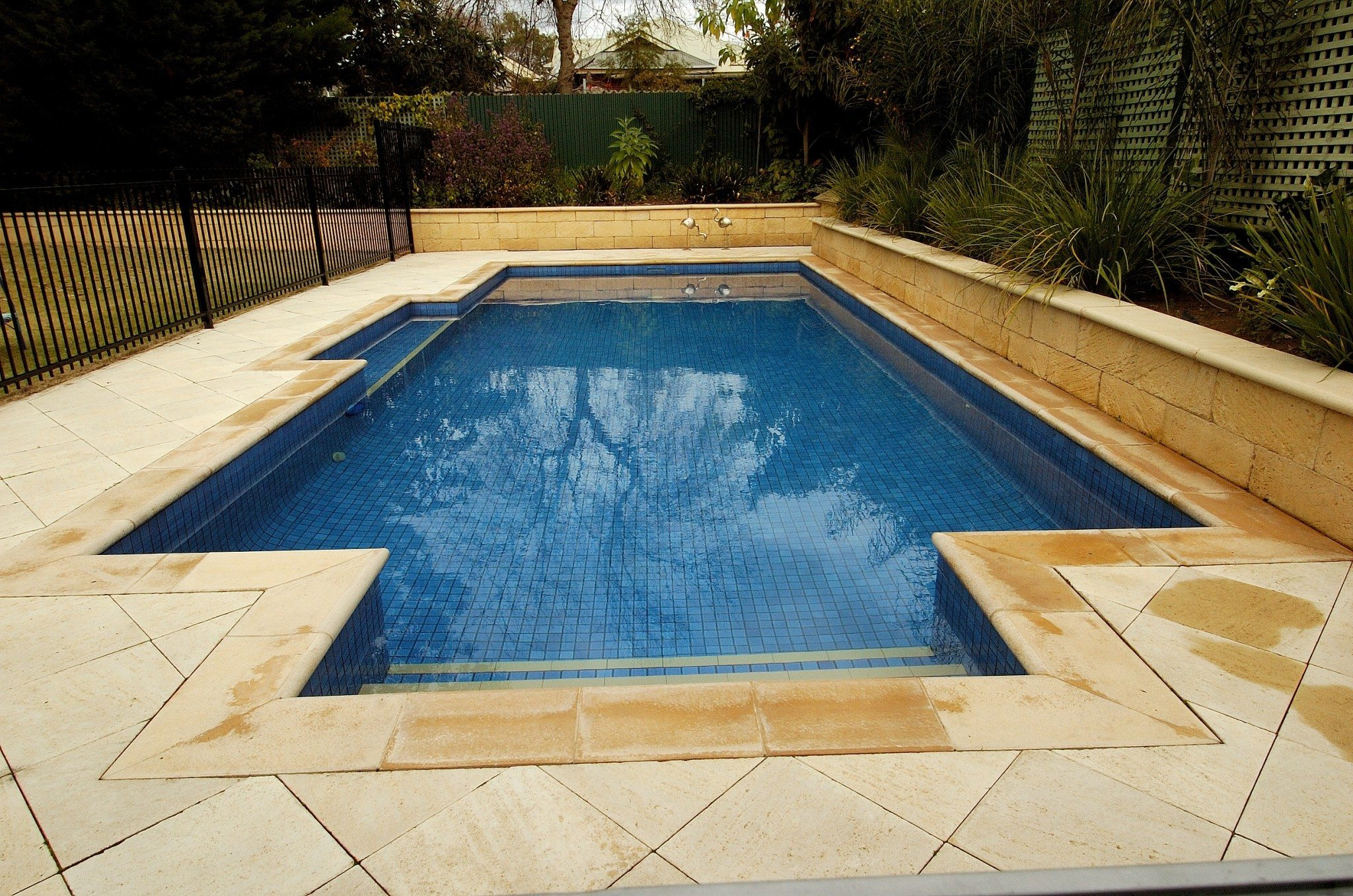 Large Tiled Plunge Pool