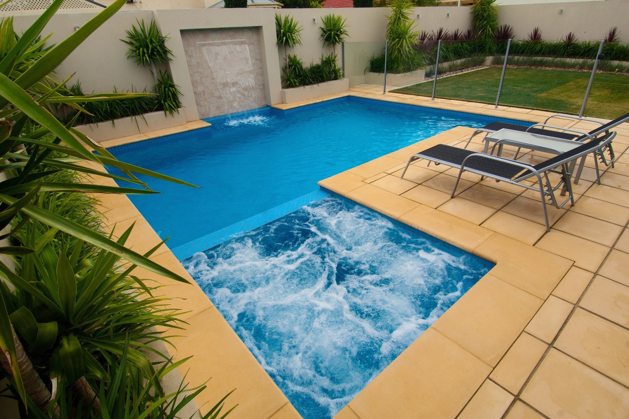 Concrete Pools with Spa