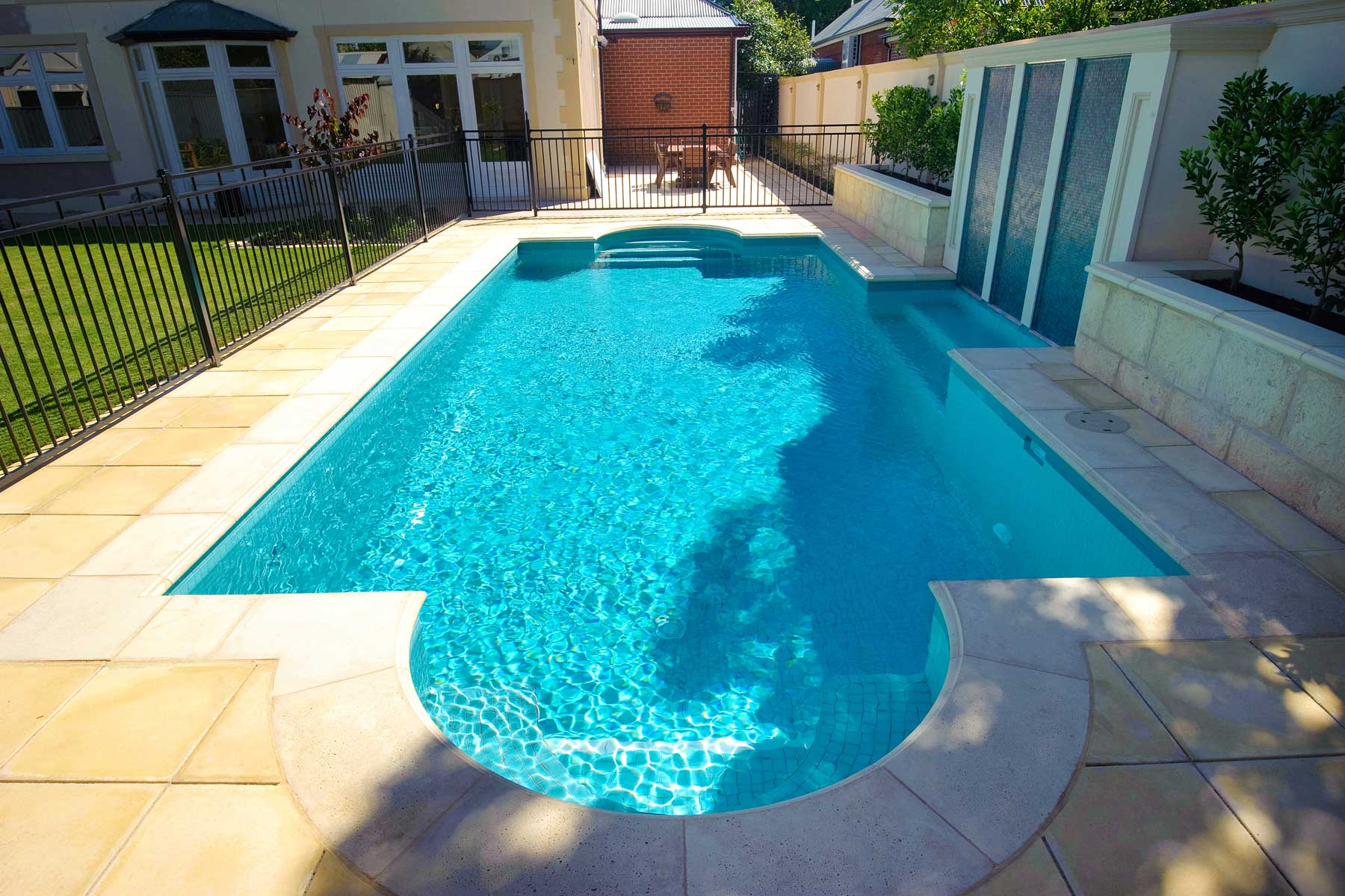 Tiled Pool and Water Feature